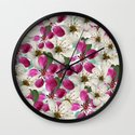 Spring Blossoms Abstract  Wall Clock