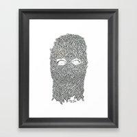 KEEP OFF THE LARVE Framed Art Print