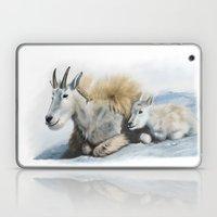 goat snow and cub Laptop & iPad Skin