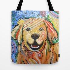 Max ... Abstract dog art, Golden Retriever Tote Bag