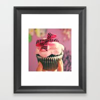cute cupcake Framed Art Print