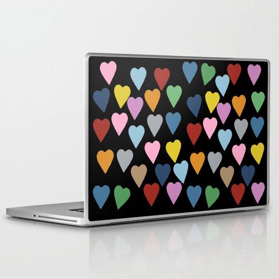 Hearts #3 Black Laptop & iPad Skin