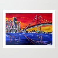Ben Franklin Bridge Sunrise Art Print