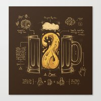 Le Beer (Elixir of Life) Canvas Print