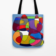 Tote Bag featuring Abstract #28 by (RLT)