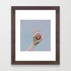 Strawberry Vibes Summer photography Fruit photo Berries for days! Framed Art Print