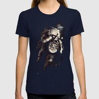 It's A Small World After All Womens Fitted Tee Navy SMALL