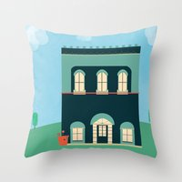 Old Victorian Throw Pillow