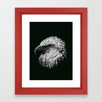 Bald Eagle (Cracked series) Framed Art Print