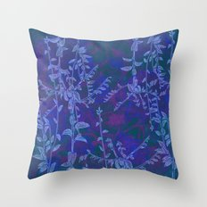 blue botanics Throw Pillow