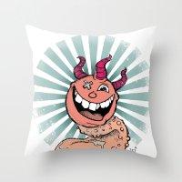 Tongue Creature Throw Pillow