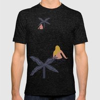 Night Pond Mens Fitted Tee Tri-Black SMALL