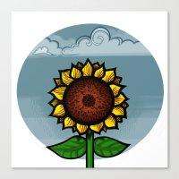 kitschy sunflower Canvas Print