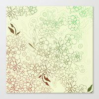 Succulents, red and green Canvas Print