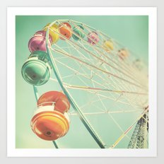 Rainbow Wheel Art Print