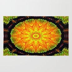 Citrus Slice Kaleidoscope Rug