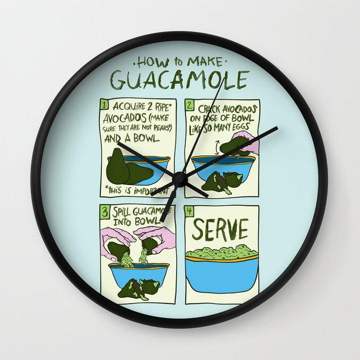 HOW TO MAKE GUACAMOLE Wall Clock by Josh LaFayette