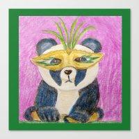 Panda Gras Canvas Print
