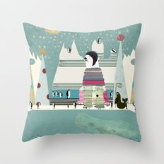 Arctic circle Throw Pillow