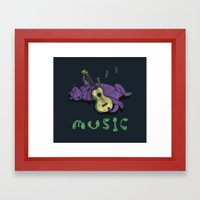 Ukulele Cat Framed Art Print