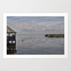 Outerbanks Bay Landscape Scene 2 Art Print