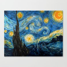 A Starry Night at Hogwarts Canvas Print