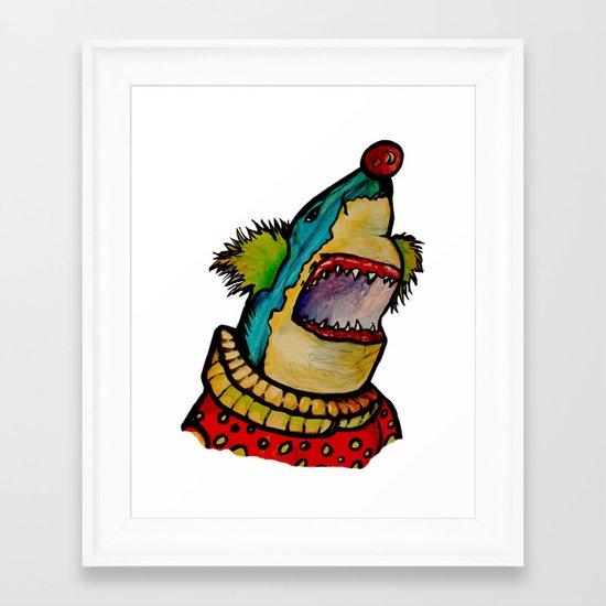 Clown Shark Framed Art Print