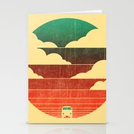 Stationery Cards featuring Go West by Budi Kwan