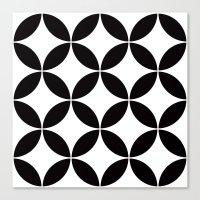 Geometric pattern (circles) Canvas Print