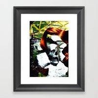 HER RUBY MY EMERALD Framed Art Print
