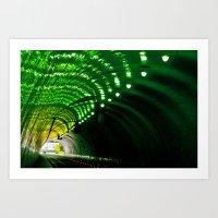 Lemon Lime Tunnel Art Print