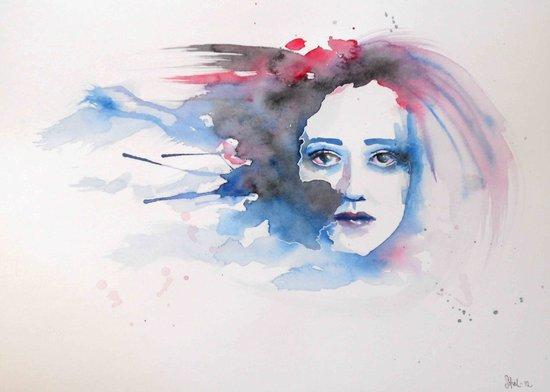 Feeling blå Art Print
