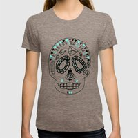 BEESKULL Womens Fitted Tee Tri-Coffee SMALL