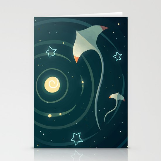 Space Ray Stationery Card