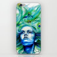 Metamorphosis-peacock iPhone & iPod Skin