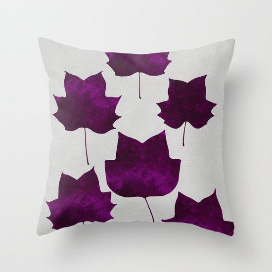 Mapleleaf Purple Throw Pillow