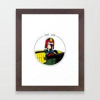 Judge Dredd Framed Art Print