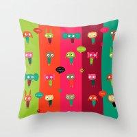 Cute Animals Throw Pillow