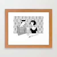 They Shared A Chocolate … Framed Art Print