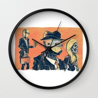 White Collar Robots Wall Clock