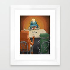 robot in trouble Framed Art Print
