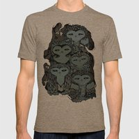 Night Owls Mens Fitted Tee Tri-Coffee SMALL