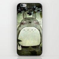 Totoro In The Rain iPhone & iPod Skin