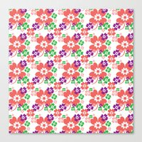 Lucky Flower Multi Canvas Print
