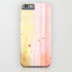 Pink Rain Watercolor Texture iPhone 6 Slim Case