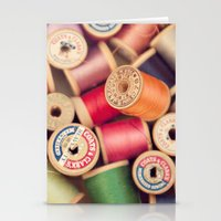 vintage spools Stationery Cards