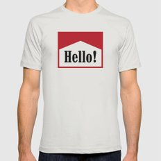 hi Mens Fitted Tee Silver SMALL