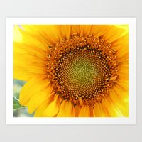 If the sun was a flower! Art Print