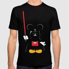Darth Mickey Mens Fitted Tee Black SMALL