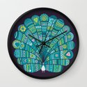 Peacock at noon Wall Clock
